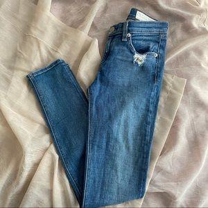Rag & Bone The Skinny Destroyed Jeans 26